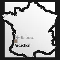 map Situation de l'hôtel les bains d'Arguin