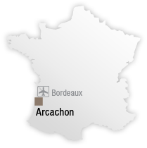 map Destination les bains d'Arguin