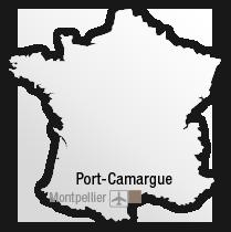 map Situation de l'hôtel les bains de Camargue