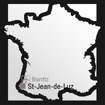 map Situation de l'hôtel Hélianthal à Saint-Jean-de-Luz