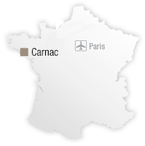 map Location of Hotel les Salines**** - Thalazur Carnac