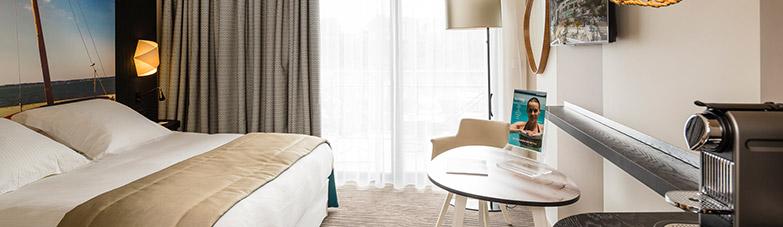 chambres h tel les bains d 39 arguin arcachon thalazur. Black Bedroom Furniture Sets. Home Design Ideas