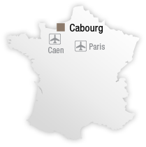 map Location of Hotel les bains de Cabourg