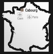 map Situation de l'hôtel les bains de Cabourg