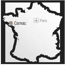 map Situation de l'Hôtel Les Salines**** - Thalazur Carnac