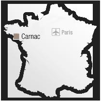 map Carnac :  Revivez 100 000 ans d'histoire au rythme des marées.